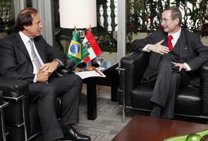 Benjamin Steinbruch, vice-presidente da Fiesp, com presidente da Câmara austríaca