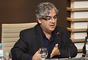 Palestrante Marco Tavares durante encontro do Coinfra