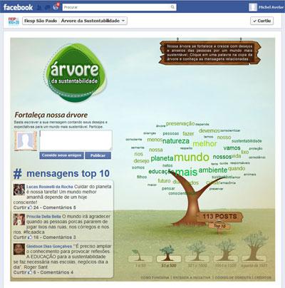 Print Facebook aplicativo Árvore da Sustentabilidade