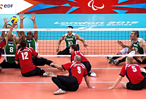 Seleção brasileira masculina de vôlei sentado. Márcio Rodrigues/CPB/divulgação