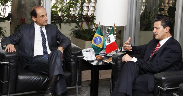 PPaulo Skaf, presidente da Fiesp, e Enrique Peña Nieto, presidente eleito do México. Foto: Junior Ruiz