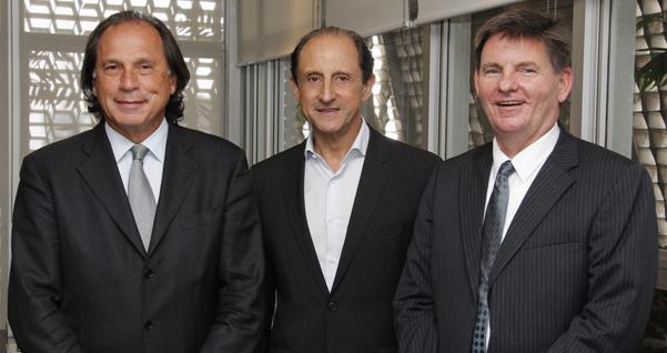 Steinbruch, Skaf e Dennis Hankins, Cônsul-Geral dos EUA em São Paulo. Foto: Junior Ruiz