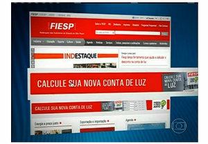 Noticiário mostrou como acessar a ferramenta pelo site da Fiesp.