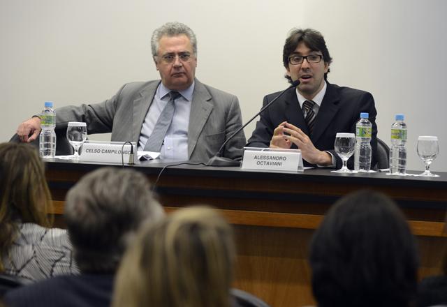 Campilongo, à esquerda, e Octaviani: debate de temas caros para a indústria. Foto: Helcio Nagamine/Fiesp