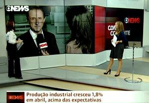 Skaf no programa Conta Corrente.  Imagem: Reprodução Globo News