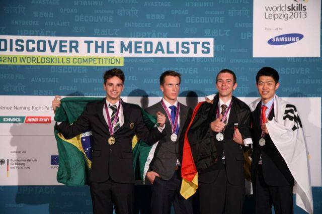 Richard Silva levou a medalha de ouro em polimecânica: talento do Senai-SP. Foto: Divulgação