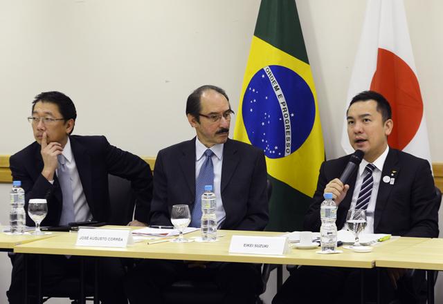Côrrea, ao centro, e Suzuki, à direita: mais intercâmbio comercial com o Brasil. Foto: Helcio Nagamine/Fiesp