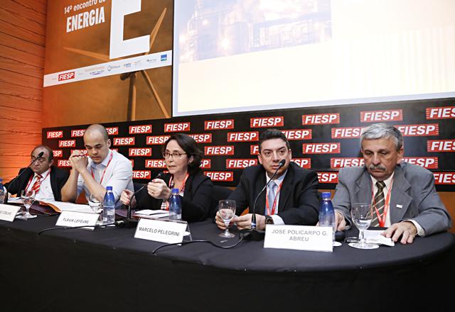 Os debatedores do painel: melhor definição dos critérios e regras para a prestação dos serviços. Foto: Julia Moraes/Fiesp