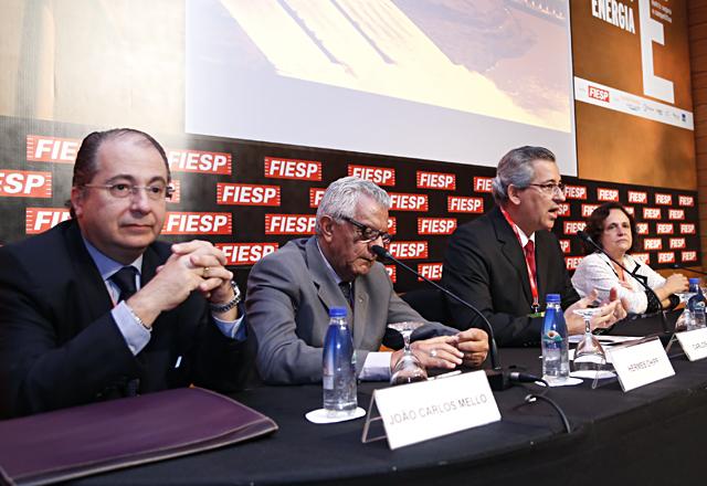 Os debatedores do painel. Foto: Julia Moraes/Fiesp