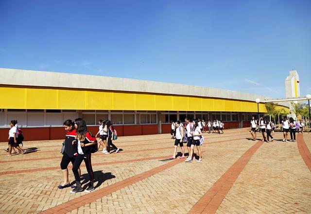 A unidade do Sesi-SP a ser inaugurada em Jardinópolis: 12 salas de aula e 337 estudantes. Foto: Julia Moraes/Fiesp