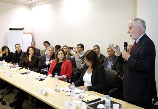 """Bishop na reunião conjunta do Conic e do CJE: """"Educação é preparar o futuro, tentar ver o que vem adiante"""". Foto: Everton Amaro/Fiesp"""
