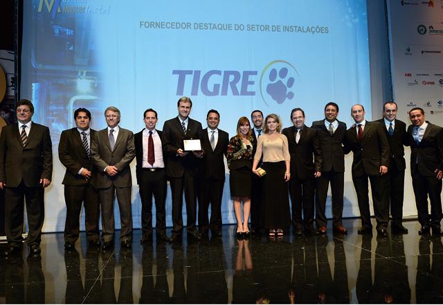 Vencedores do Prêmio Masterinstal em cerimônia na noite desta terça-feira (22/10). Foto: Divulgação