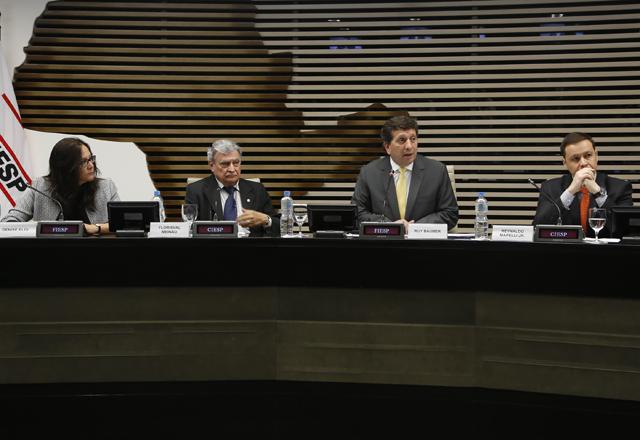 Participantes dos debates do fórum nesta terça-feira (15/10), na Fiesp. Foto: Ayrton Vignola/Fiesp