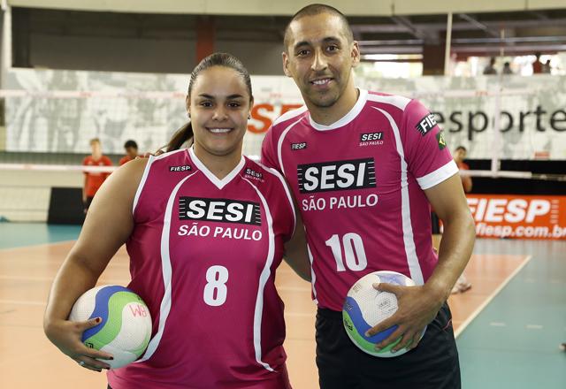 Suelen e Serginho elogiaram a iniciativa e estão empolgados com o apoio à campanha. Foto: Beto Moussalli/Fiesp