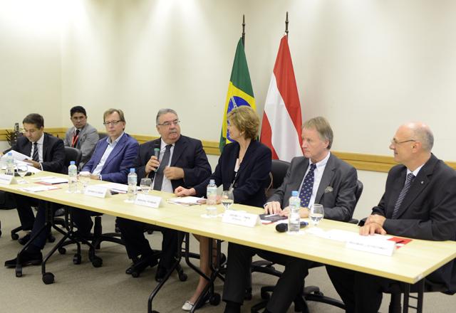 A reunião do Derex nesta quinta-feira (24/10), na Fiesp, com a delegação da Áustria. Foto: Helcio Nagamine/Fiesp