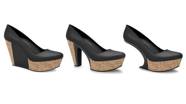 Opção de modelo do calçado customizável com solado estampado: um par que vira nove. Foto: Divulgação