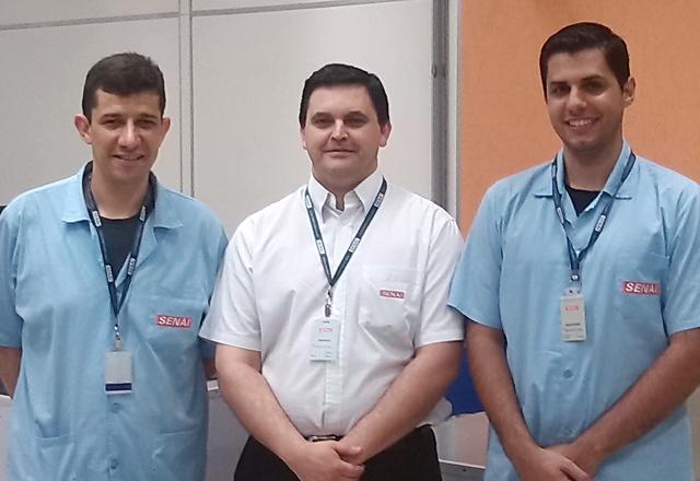 Da esquerda para a direita: Pereira, Amaral e Iassia: trabalho em parceria com a Firjan. Foto: Arquivo Pessoal