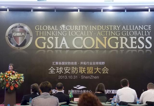 Selma no Congresso Global de Segurança da Indústria, em Shenzhen. Foto: Fiesp