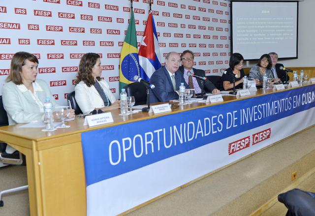 Os convidados do seminário Oportunidades de Investimentos em Cuba: bom relacionamento. Foto: Everton Amaro/Fiesp