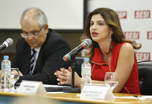 Luciana: planejamento estratégico, teoria do domínio do fato e questões ligadas à internet em debate. Foto: Renan Felix/Fiesp