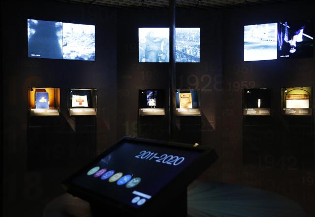A exposição sobre o Nobel no Centro Cultural Ruth Cardoso: referência para alunos e professores. Foto: Beto Moussalli/Fiesp