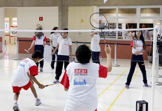 Badminton em Presidente Prudente: novas modalidades esportivas na rede. Foto: Ayrton Vignola/Fiesp