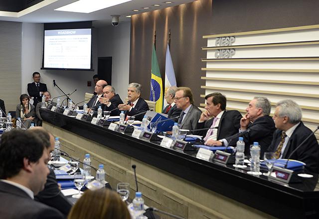 A reunião com os argentinos na manhã desta quinta-feira (19/12) na Fiesp. Foto: Helcio Nagamine/Fiesp