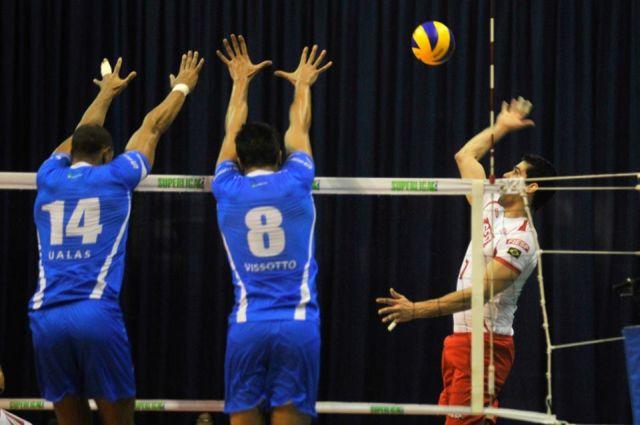 O jogo do Sesi-SP com o RJ na noite deste sábado (07/12) na capital carioca. Foto: Lucas Dantas/Fiesp