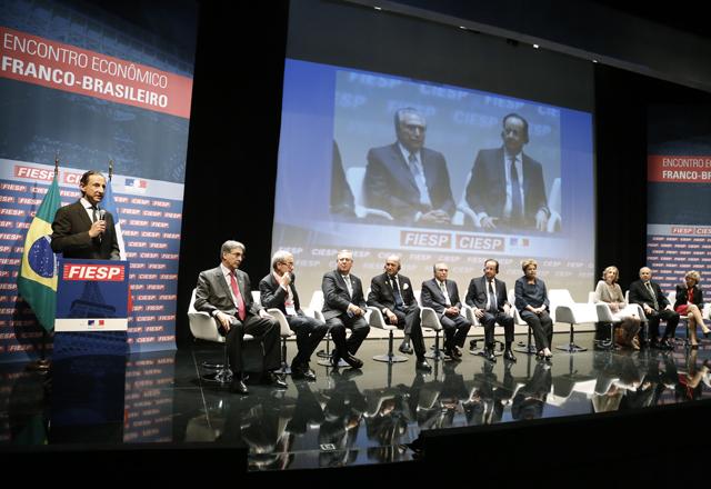 Skaf no Encontro Econômico Franco-Brasileiro: importância da França para fechar acordo comercial. Foto: Tâmna Waqued/Fiesp