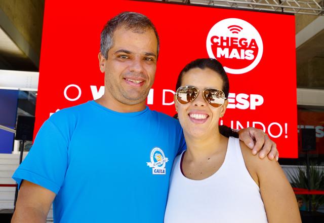 Paulo e Juliana: recomendação da festa da Fiesp para os parentes. Foto: Tâmna Waqued/Fiesp