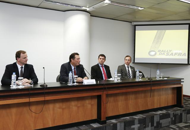 Entrevista Coletiva sobre o 'Rally da Safra 2014'. Na foto, da esquerda para a direita: Gunther Knak, André Pessoa e Mauro Alberton, Everson Zin.