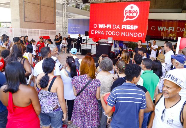 Paulistanos lotaram a sede da Fiesp neste sábado para as comemorações dos 460 anos de São Paulo. Foto: Tâmna Waqued/Fiesp