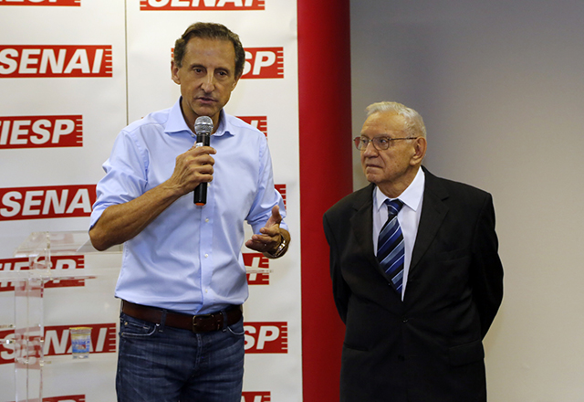 Skaf, à esquerda, e Silva: a melhor infraestrutura possível. Foto: Ayrton Vignola/Fiesp