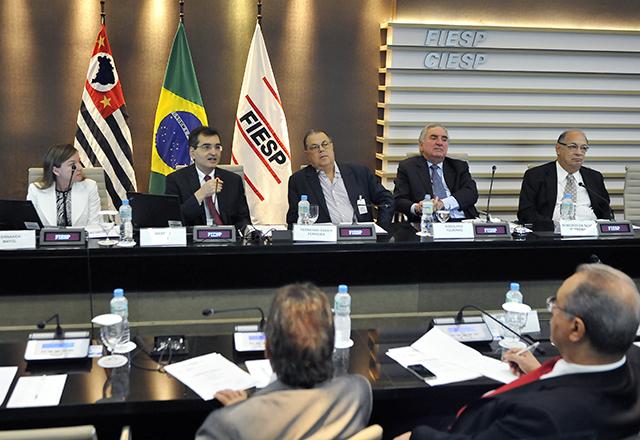 A reunião do Coinfra nesta quinta-feira (13/02): entraves ao desenvolvimento em debate. Foto: Helcio Nagamine/Fiesp