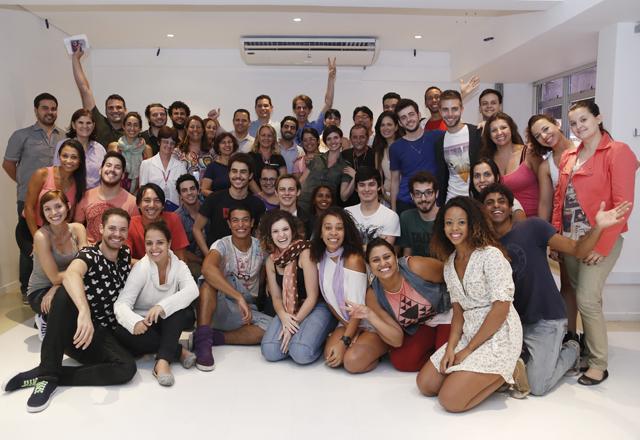 Os alunos do curso profissionalizante de Teatro Musical do Sesi-SP: dedicação. Foto: Tamna Waqued/Fiesp