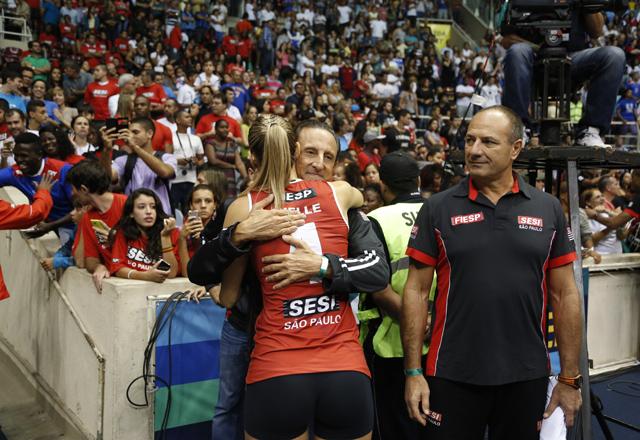 Skaf foi ao Rio de Janeiro acompanhar a final da Superliga: apoio ao time. Foto: Ayrton Vignola/Fiesp