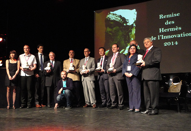 A cerimônia de premiação em Paris: trabalho de formação reconhecido. Foto: Divulgação