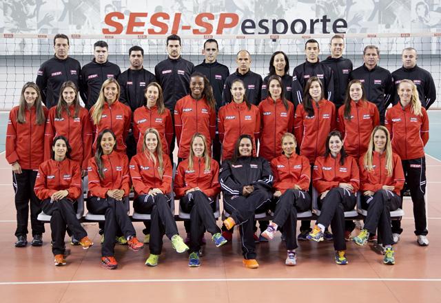 O time de vôlei feminino do Sesi-SP: integração, alegria e vontade de vencer. Foto: Everton Amaro/Fiesp
