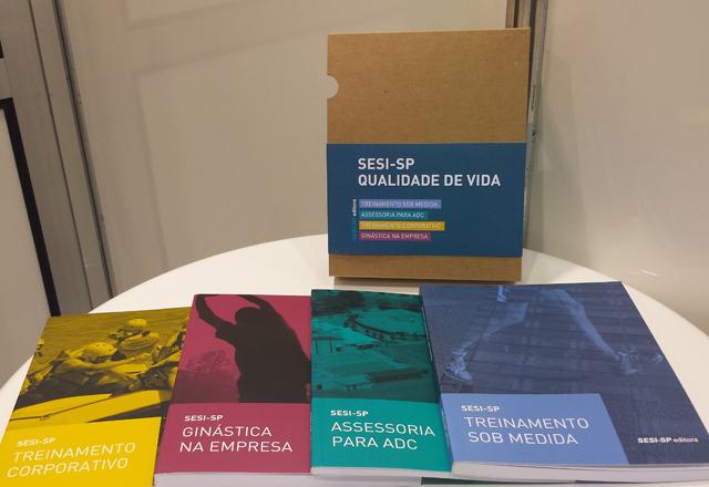 O box Sesi-SP Qualidade de Vida, lançado nesta quinta-feira (28/08) na Bienal. Foto: Isabela Barros/Fiesp