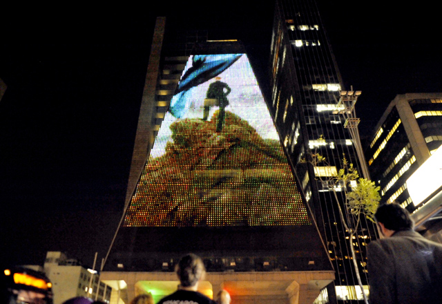 A Galeria Digital da Fiesp: para deixar a Paulista mais iluminada. Foto: Everton Amaro/Fiesp
