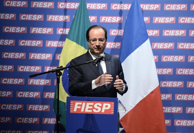 Hollande, um dos 67 chefes de estado que visitaram a Fiesp entre 2004 e 2014. Foto: Helcio Nagamine/Fiesp
