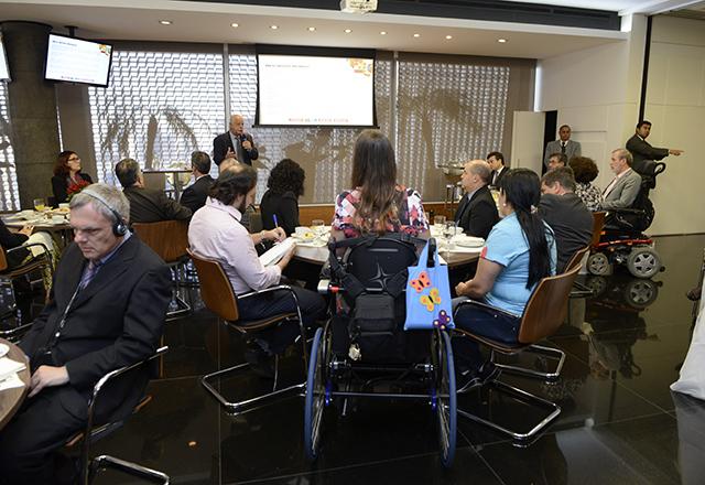 O encontro que apresentou o projeto Meu Novo Mundo para um grupo de convidados nesta segunda-feira (04/08). Foto: Helcio Nagamine/Fiesp