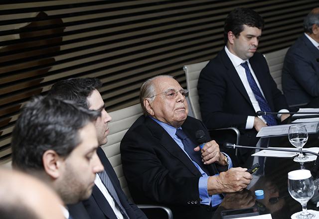 O cirurgião plástico Ivo Pitanguy durante reunião do Comitê de Jovens Empreendedores da Fiesp