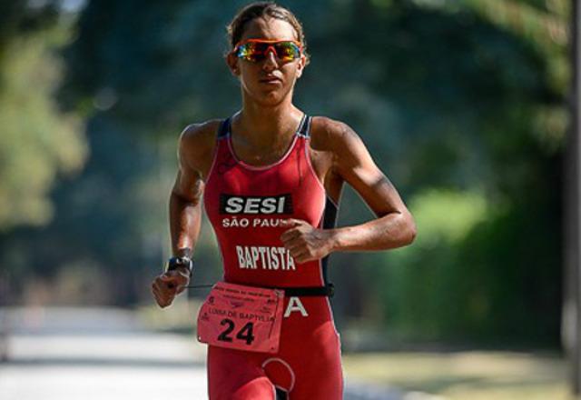 Luísa Baptista, triatleta do Sesi-SP faz sua estreia no Pan de Toronto neste final de semana. Foto: Divulgação/Fiesp