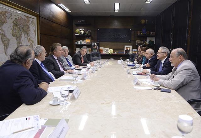 Reunião entre empresários e embaixador do Brasil no Iraque, Miguel Magalhães, na sede da Fiesp. Foto: Helcio Nagamine/Fiesp