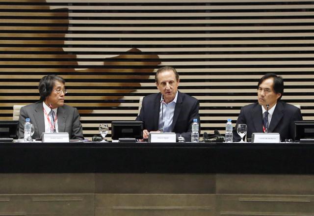 Paulo Skaf em encontro com empresários japoneses na Fiesp. Foto: Ayrton Vignola/Fiesp