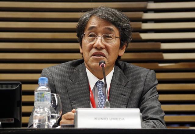 Embaixador do Japão no Brasil, Kunio Umeda, em seminário na Fiesp. Foto: Ayrton Vignola/Fiesp