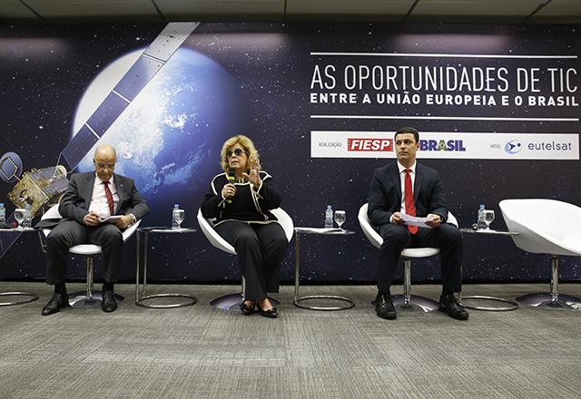 "Abertura do workshop ""As oportunidades de TIC entre União Europeia e o Brasil"". Foto: Ayrton Vignola/Fiesp"
