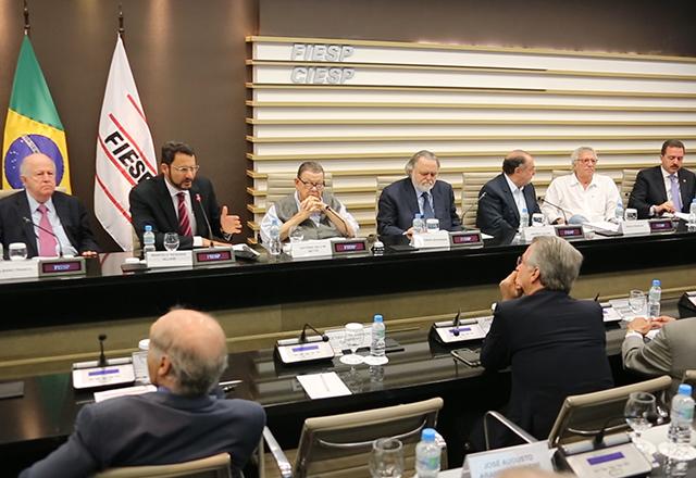 Reunião do Cosec com a participação de Marcelo Allain. Foto: Divulgação/Fiesp
