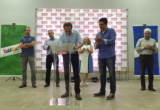 Paulo Skaf assina convênio do PAF com o município de Taubaté. Foto: Ayrton Vignola/Fiesp